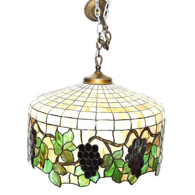 Antique Tiffany Hanging Lamp Value: Vintage Tiffany Style Hanging Light