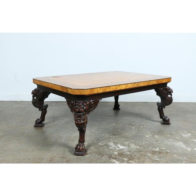 Baker burlwood coffee table chairish Baker coffee table