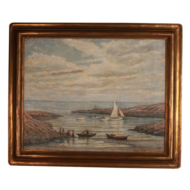 Image of William Chapman Oil on Canvas Seascape Painting