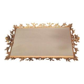 Antique Mirror Brass Tray