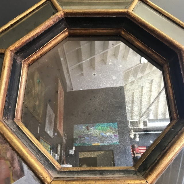 Vintage Octagonal Faceted Mirror - Image 4 of 5