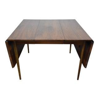 Mid-Century Modern Walnut Drop Leaf Dining Table