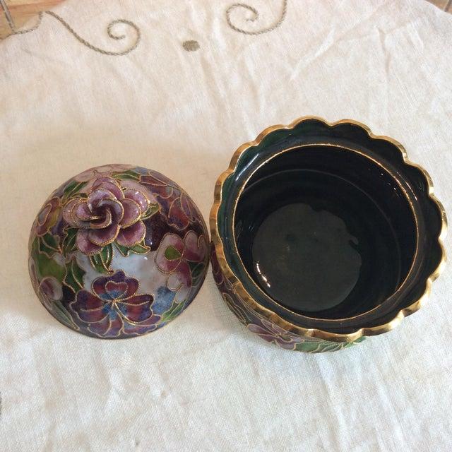 Cloisonné Floral Box - Image 5 of 5