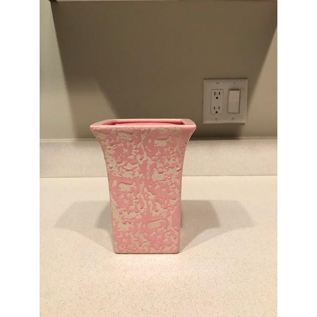 McCoy Pink & Cream Brocade Vase - Image 5 of 5