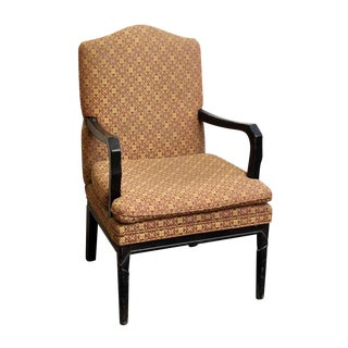 Arm Chair with Decorative Patterned Upholstery
