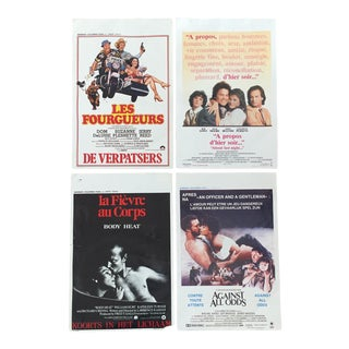 American Movie Posters in French - Set of 4