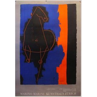 1970 Swiss Exhibition Poster - Marino Marini