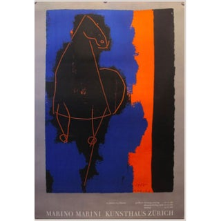 1970 Swiss Exhibition Poster - Marino Marini