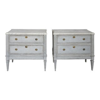 Pair of Neoclassical Two Drawer Chests (#62-09)