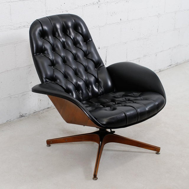 MCM Mulhauser Molded Wood Lounge Chair & Ottoman - Image 6 of 10