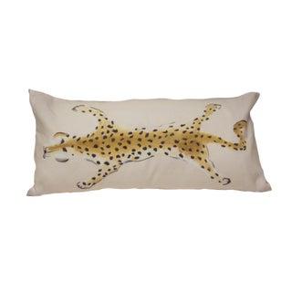Cream Leopard Motif Pillow