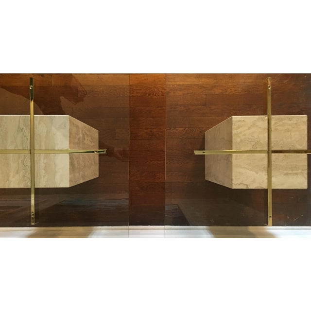 Mid-Century Travertine Side Tables - A Pair - Image 7 of 10