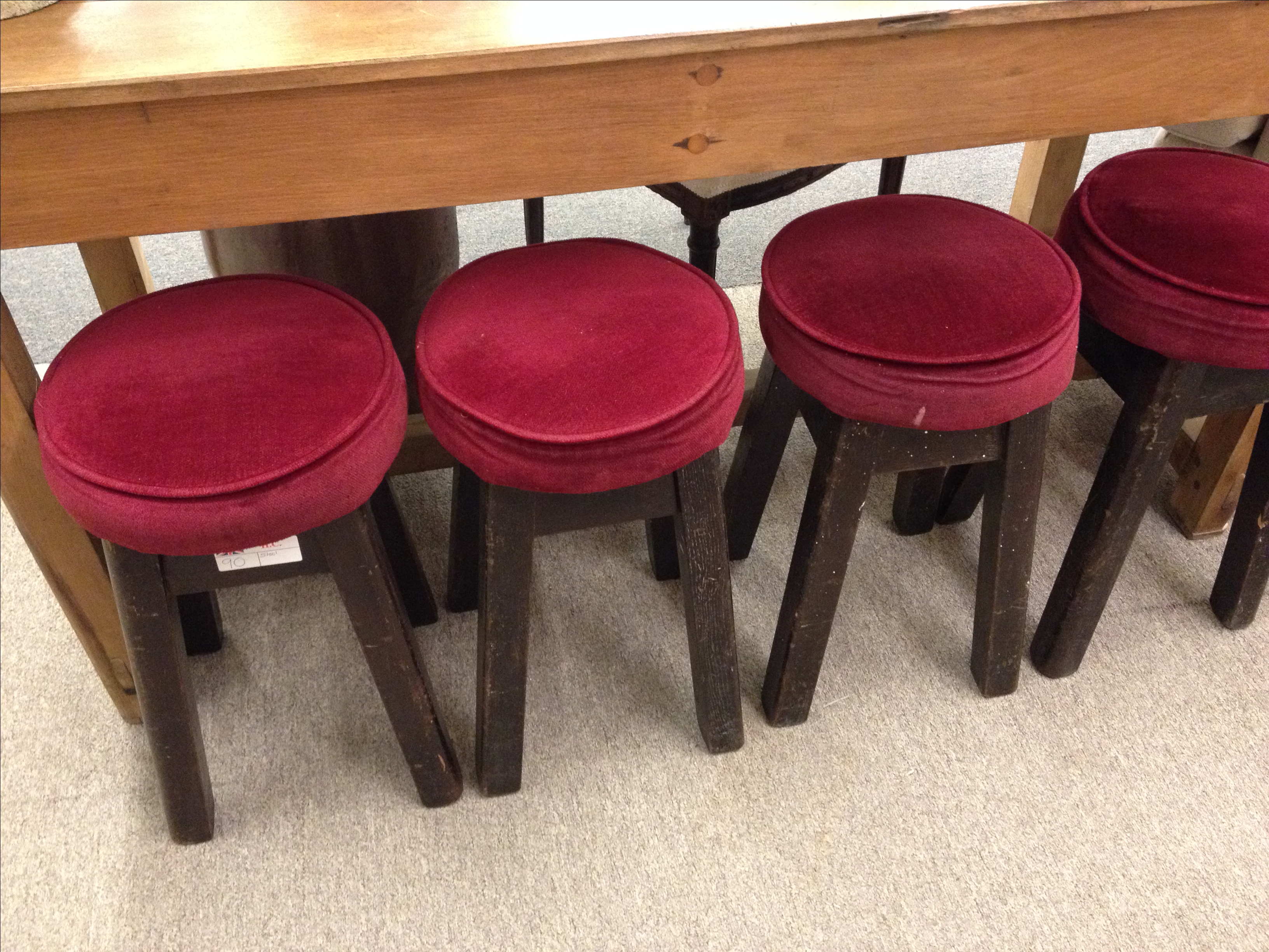 English Bar Stools Set Of 6 Chairish