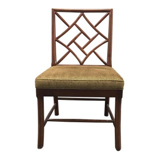 New Hickory Chair Fretwork Side Chair