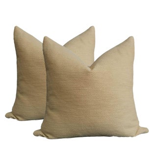 Basketweave Pillows in Ralph Lauren Wheat Linen