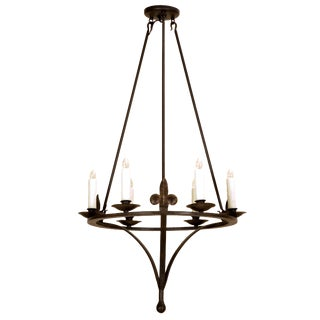 Tosca Italian Country Wrought Iron Six Light Chandelier by Randy Esada Designs