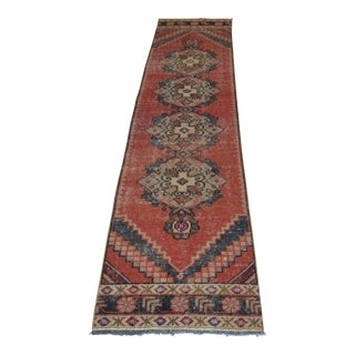 Turkish Oushak Handmade Hallway Runner - 2′ × 8′10″