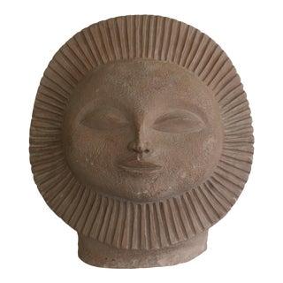 1968 Paul Bellardo Sun Face Sculpture