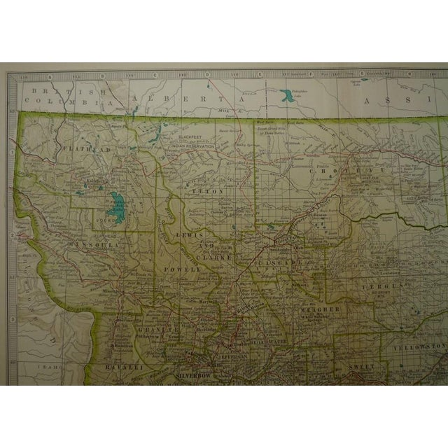 Antique Map of Montana C. 1902 - Image 3 of 4