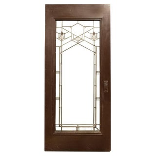 Frank Lloyd Wright Door from the Bradley House in Kankakee, IL, 1900
