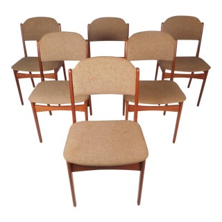 Set of Six Mid-Century Modern Danish Teak Dining Chairs