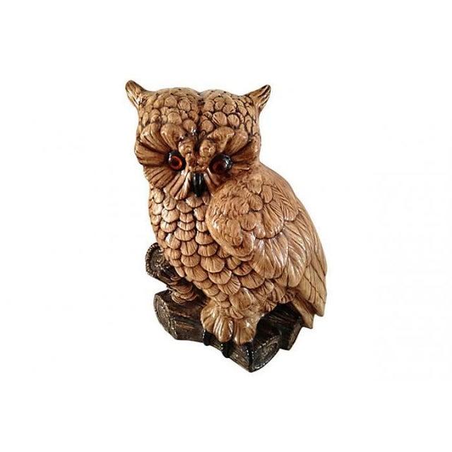Mid-Century Ceramic Owl Lamp - Image 1 of 10