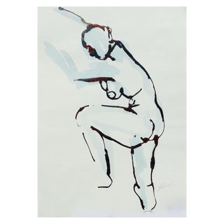 """""""Reaching"""" Original Drawing by Martha Holden"""