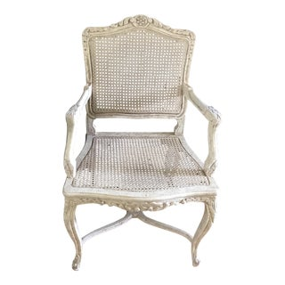 Vintage French Provincial Cane Armchair