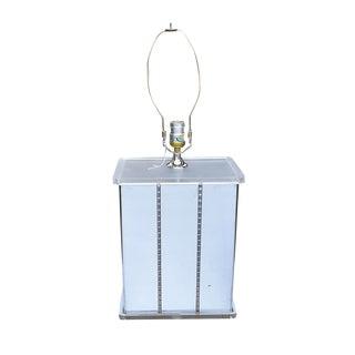 Mirrored Retro Mid-Century Lucite Statement Lamp