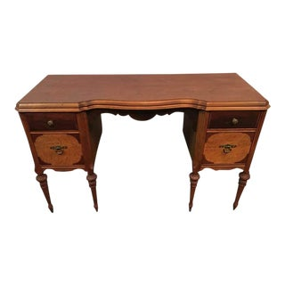 Vintage Carved Oak Writing Desk
