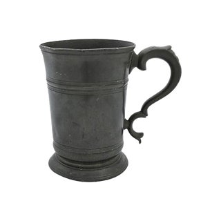 Antique English Pewter Pint Ale Tankard