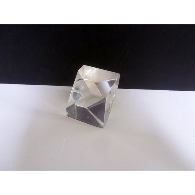 Sculptural Lucite Modernist Paperweight - Image 4 of 5