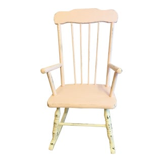 Vintage Annie Sloan Chalk Paint Child's Rocking Chair