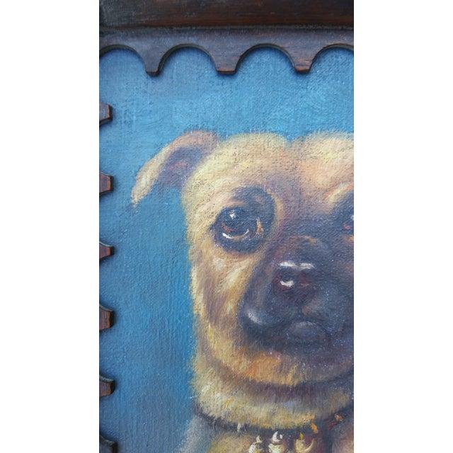 Image of English Pug Dog Painting on Board