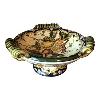 Tuscan Style Green & Blue Fruit Bowl