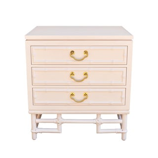 Ficks Reed Blush Pink Bamboo Nightstand