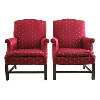 Chippendale Wingback Chairs - A Pair