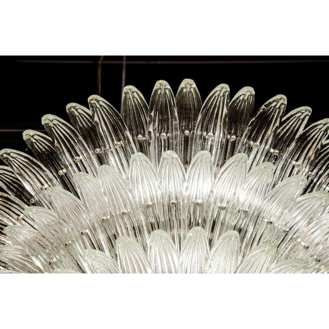 Exquisite Five-Tier Palma Murano Glass Chandelier - Image 6 of 9