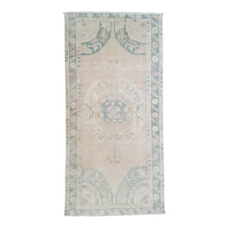 """Vintage Hand Knotted Oushak Rug - 3'0 X 6'2"""""""