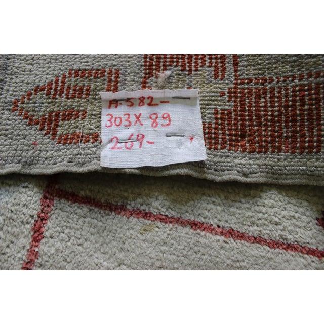 Turkish Anatolian Oushak Rug Runner - 2'9'' x 10' - Image 6 of 7