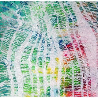 Turquoise & Lace Abstract Watercolor