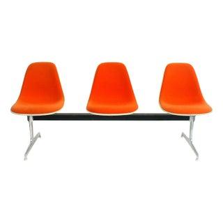 Orange Eames Herman Miller La Fonda Chair Tandem