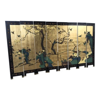 Vintage Coromandel Screen 8 panel