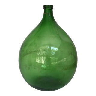 Green Handblown Demijohn