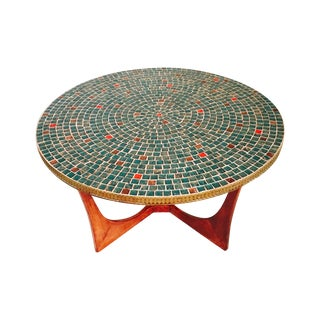 G Plan Style Tile Top with Mosaic Table