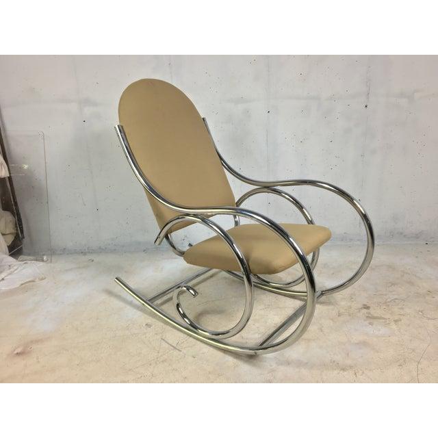 Modern Chrome Rocker In The Style of Michael Thonet - Image 2 of 4
