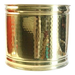 Bristol Brass & Copper Hammered Brass Planter