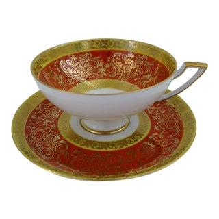 Vintage Bavarian Tea Cup & Saucer