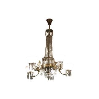 5-Armed Crystal Chandelier