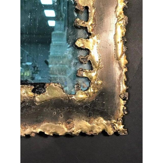 Paul Evans Style Brutalist Mirror - Image 7 of 8